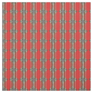 Red Snake Pattern Cotton Fabric