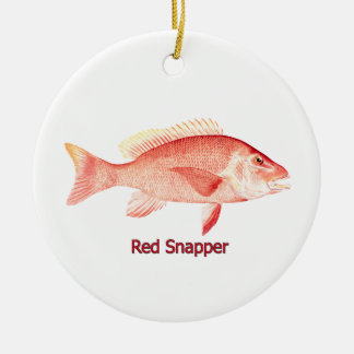 Red Snapper Fish Ceramic Ornament