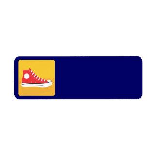 Red Sneaker Return Address Label