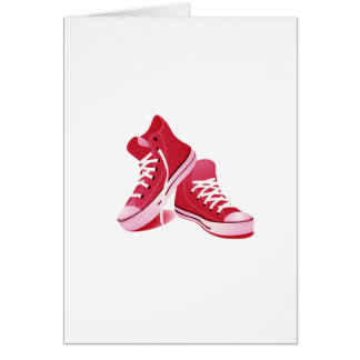 Red Sneakers Card