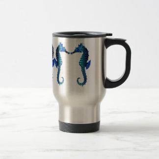 Red Snout Seahorses Traveler Mug
