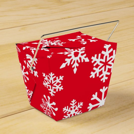 Red Snowflake Cookie Christmas Box Wedding Favor Boxes