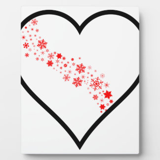 Red Snowflake Heart Plaque