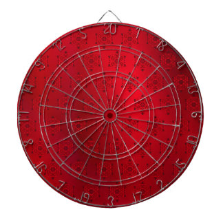 Red Snowflake Pattern Background Dartboard