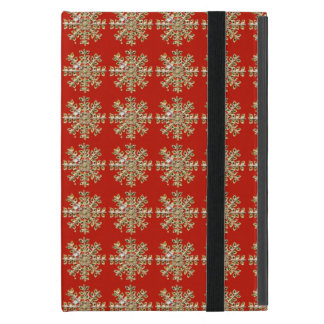 Red Snowflake Pattern Cover For iPad Mini