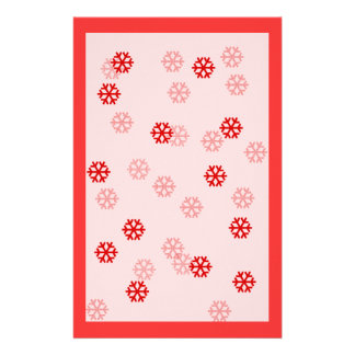 Red Snowflake Winter Stationary Custom Stationery