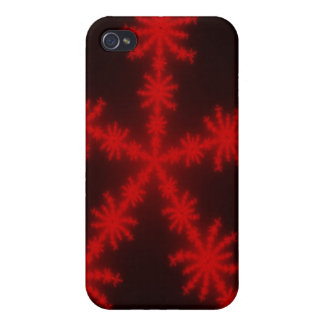Red SnowFlakes iPhone 4/4S Case