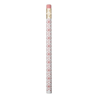 Red Snowflakes Pencil