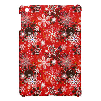 Red Snowflakes Retro Christmas Holiday Gift iPad Mini Cases