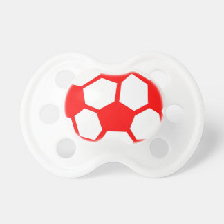 Red Soccer Ball Pacifiers