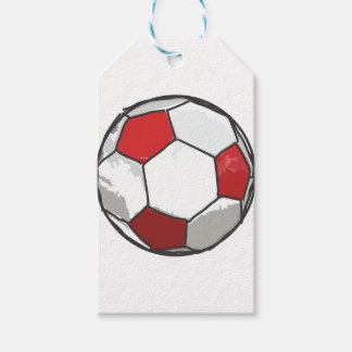 Red Soccer Ball Sketch Pack Of Gift Tags