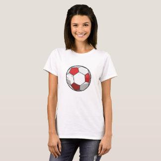 Red Soccer ball sketch T-Shirt