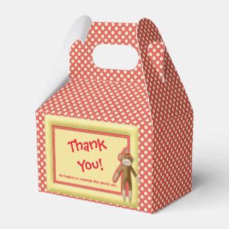 Red Sock Monkey Favor Box