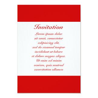 "Red Solids + Custom Color 5"" X 7"" Invitation Card"