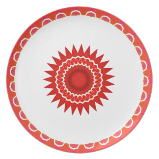 Red Southwestern Plate