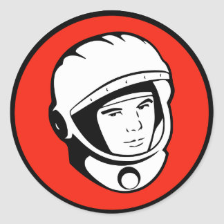 Red Soviet Cosmonaut Sticker
