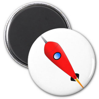Red Space Rocket Magnet