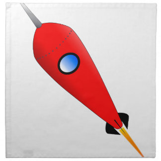 Red Space Rocket Napkin