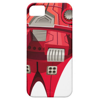 Red spaceship with engine on top iPhone 5 cover