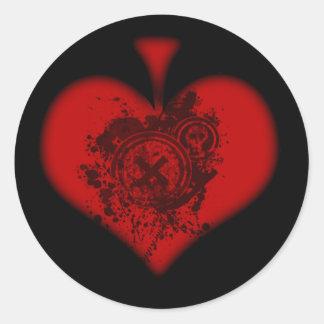 Red Spade Sticker