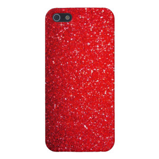 Red sparkle iPhone 5/5S cases