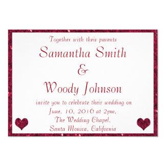 Red Sparkle Wedding Card
