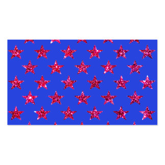 Red Sparkly Stars Visual Identifiers Business Card