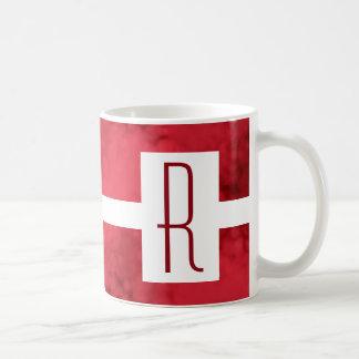 Red Speckled Monogram Coffee Mug