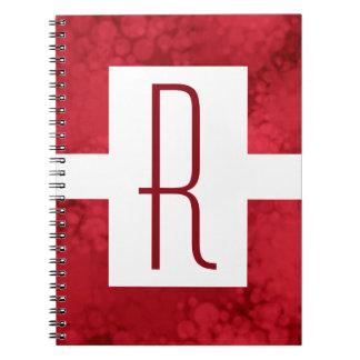 Red Speckled Monogram Notebook