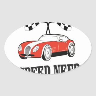 red speed need oval sticker