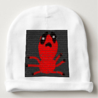 Red Spider Brown Graffiti Wall Baby Hat Baby Beanie