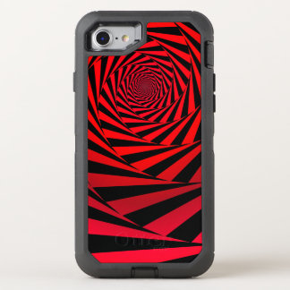 Red spiral alternative OtterBox defender iPhone 8/7 case