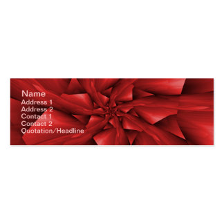 Red Spiral Arms Card Mini Business Card