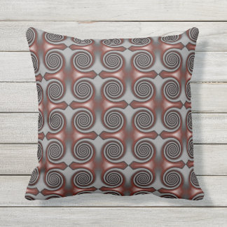 Red Spirals Outdoor Pillow