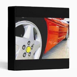 Red sports car binder
