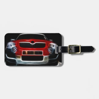 Red Sports Car Luggage Tag