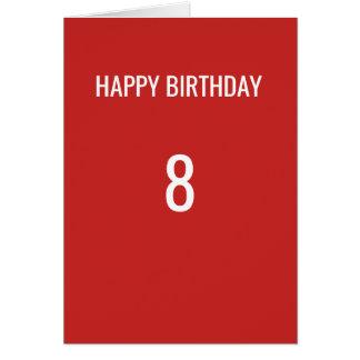 RED SPORTS FAN BIRTHDAY CARD