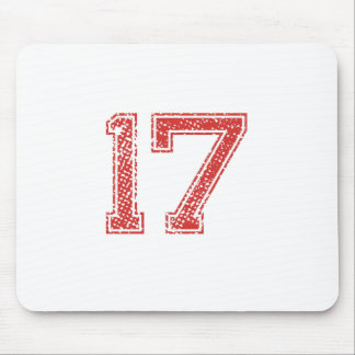 Red Sports Jerzee Number 17 Mouse Pad