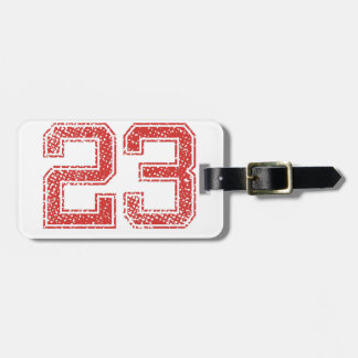 Red Sports Jerzee Number 23 Luggage Tag