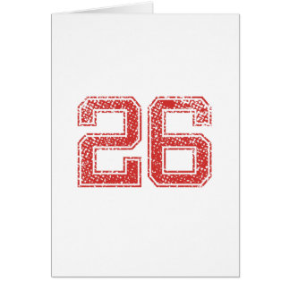 Red Sports Jerzee Number 26 Card