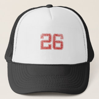 Red Sports Jerzee Number 26 Trucker Hat
