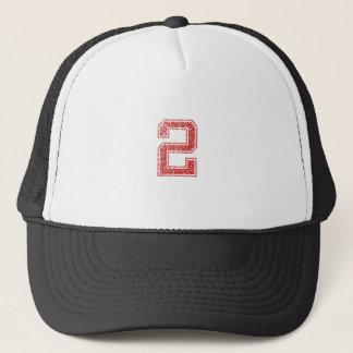 Red Sports Jerzee Number 2 Trucker Hat