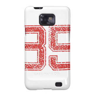 Red Sports Jerzee Number 35 Samsung Galaxy S2 Case