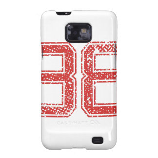 Red Sports Jerzee Number 38 Galaxy SII Case