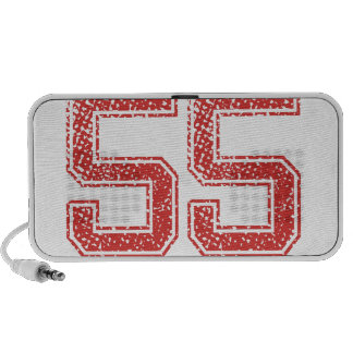 Red Sports Jerzee Number 55 Mp3 Speakers