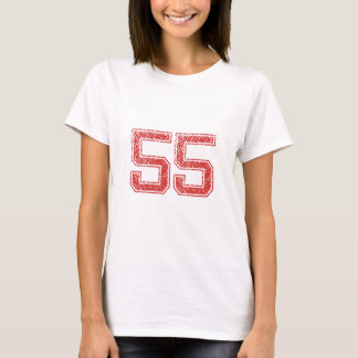 Red Sports Jerzee Number 55 T-Shirt