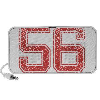 Red Sports Jerzee Number 56 Laptop Speaker