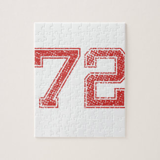 Red Sports Jerzee Number 72 Jigsaw Puzzle