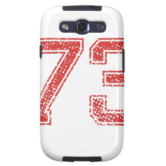 Red Sports Jerzee Number 73 Galaxy S3 Covers