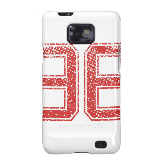 Red Sports Jerzee Number 96 Galaxy S2 Cases